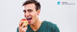 A patient shouldn't eat hard fruits